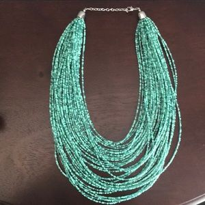 New York & Company Jewelry - NWOT Multi strand beaded necklace in teal